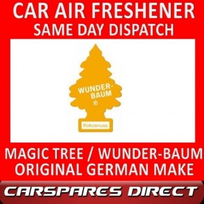 MAGIC TREE CAR AIR FRESHENER COCONUT ORIGINAL & BEST - WUNDER-BAUM NEW
