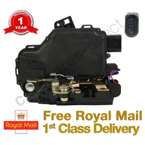 SKODA OCTAVIA FRONT RIGHT CENTRAL DOOR LOCK MECHANISM 96>10 *NEW* 8 PIN